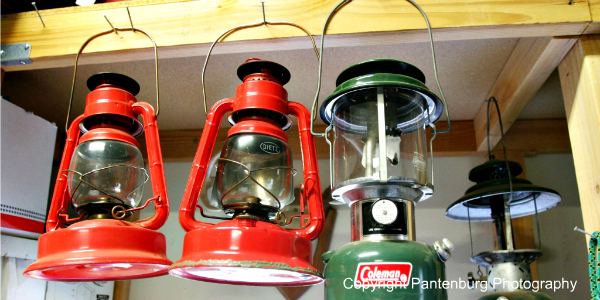 kerosene lanterns, emergency lighting,
