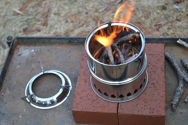 This SilverFire Scout is a lightweight, effective biomass-fueled stove.