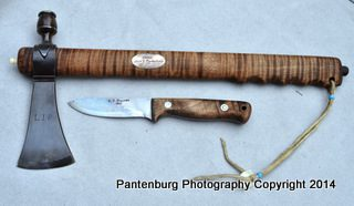 Pipe tomahawk and C.T. Fischer knife