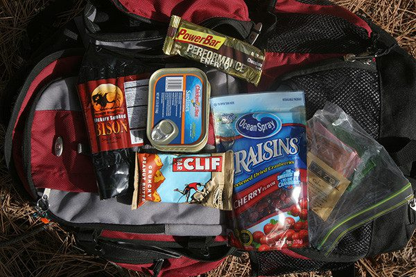 Lightweight trail food for backpacking