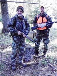 Me and my brother Mike Pantenburg all cammied up to go elk hunting. (Bob Patterson photo)