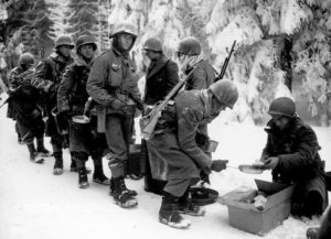 hot meal, world war two, battle of bulge