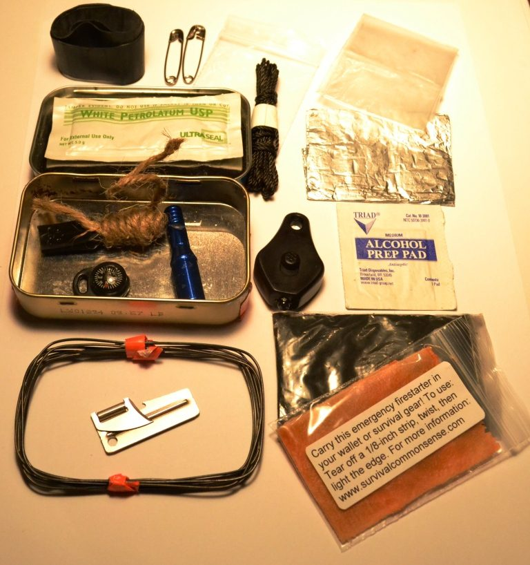This pocket survival kit has many items that could help you survive disasters or emergencies.