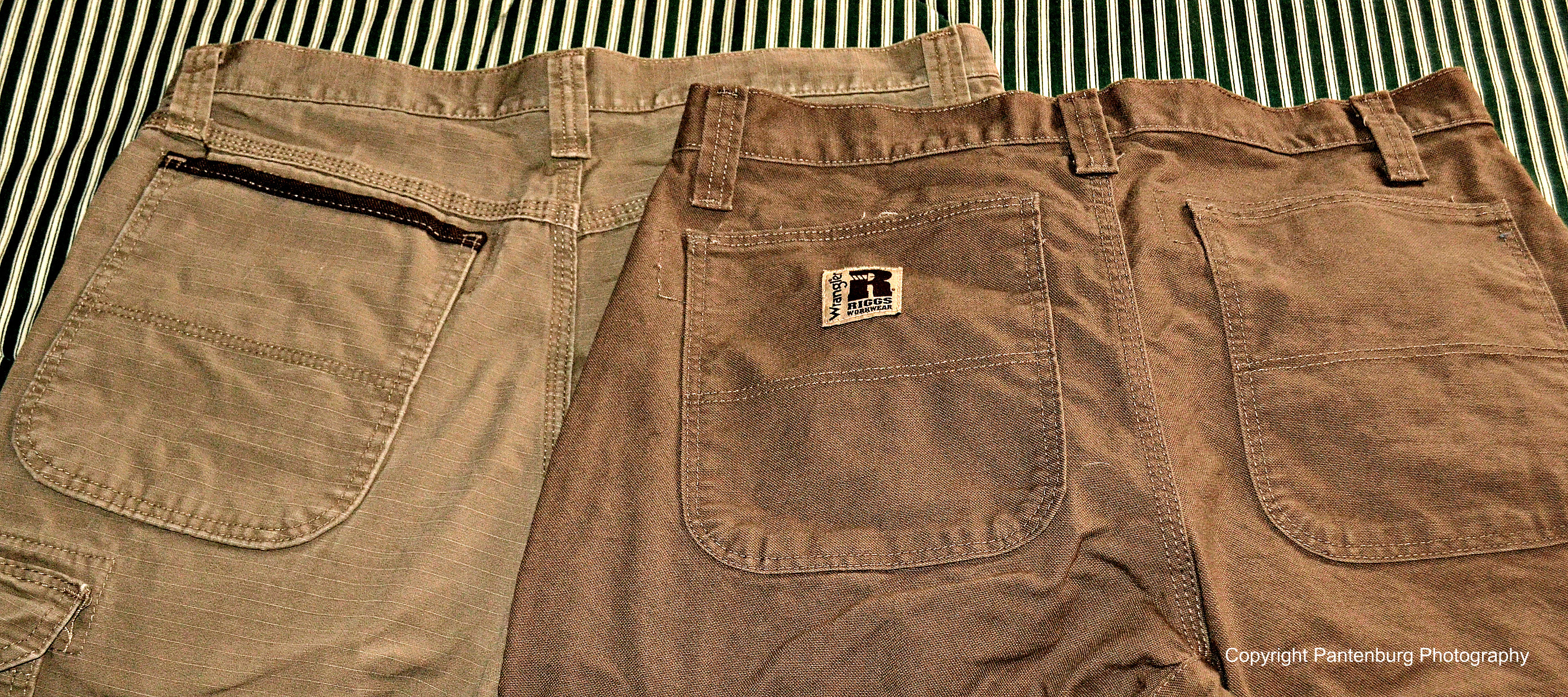 Wrangler Riggs are durable, hard-working pants that are very practical.