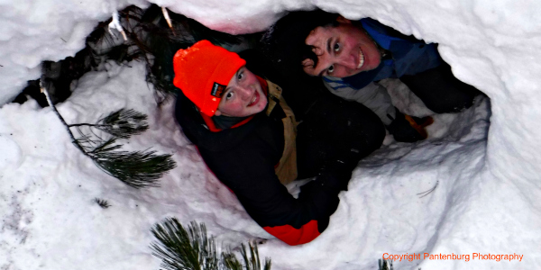 build snow cave, how to build snow shelters