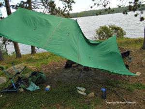 Most people buy tarps that are too small. The splash zone around the edges cuts back on the coverage.