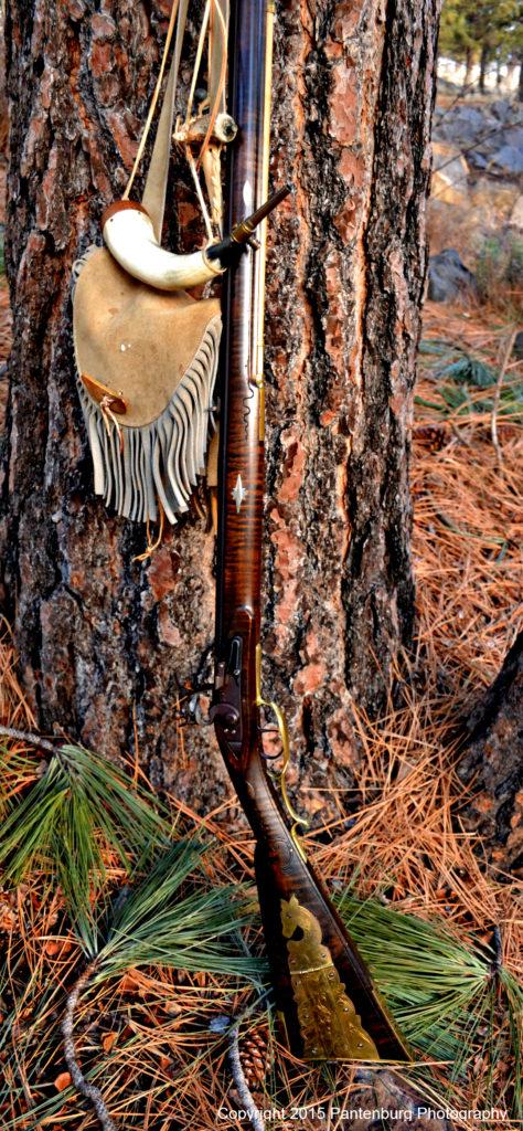 flintlock rifle, squirrel hunting with blackpowder rifle, hunt with flintlock
