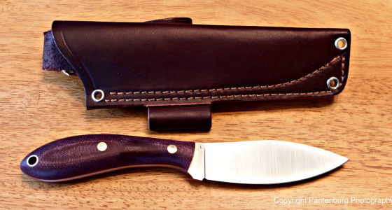 L.T. Wright Large Hunter, Canadian style blade, skinning knife
