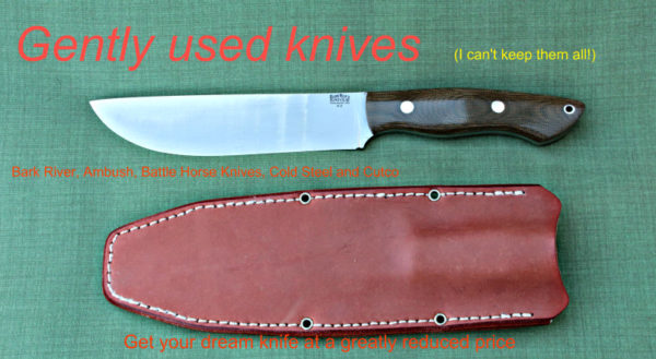 buy knives, used knives, Bark River, Battle Horse Knives