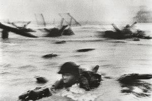 Capra photos, D Day landing, Omaha Beach