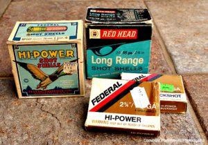 old shotgun shells, store shotgun shells