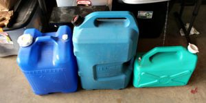 emergency water containers, storage water, store water for emergencies