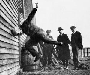 testing helmets, testing football helmet 1912