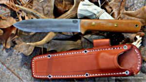 Bark River Kephart and sheath, best utility knife