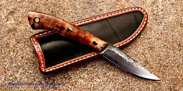 Lon Humphrey bird and trout knife, Lon Humphrey custom knives