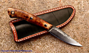 Bird and Trout knife, Lon Humphrey custom knives
