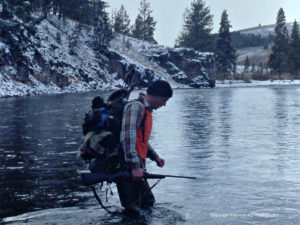 mike, crossing salmon river